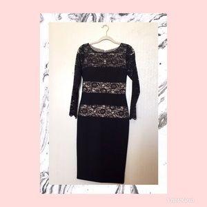🕰London Times Black Lace Dress